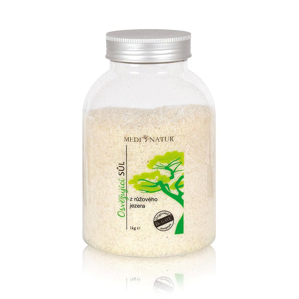 Osvěžující sůl z růžového jezera 1 kg - Eukalyptus proti únavě a pocitu bez energie